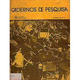 Cadernos de Pesquisa no 79 novembro 1991 / Fundacao Carlos Chagas / 1070