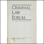 Criminal Law Forum An Internacional Journal Vol 4 Nr 1 / Madeleine Sann / 1473