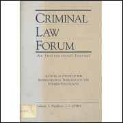Criminal Law Forum An Internacional Journal Vol 5 Nr 2-3 / Madeleine Sann / 1474