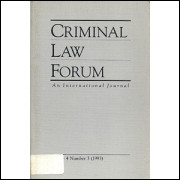 Criminal Law Forum an International Journal Vol 4 Nr 3 / Madeleine Sann / 1475