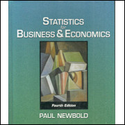 Statistcs For Business & Economics fourth edition / Paul Newbold / 5166
