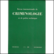 Revue Internationale De Criminologie Et De Police Technique / Editions Marcel Meichtry / 8550