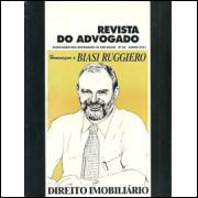 Revista Do Advogado Nro 63 Direito Imobiliario / Editora Aasp / 9629