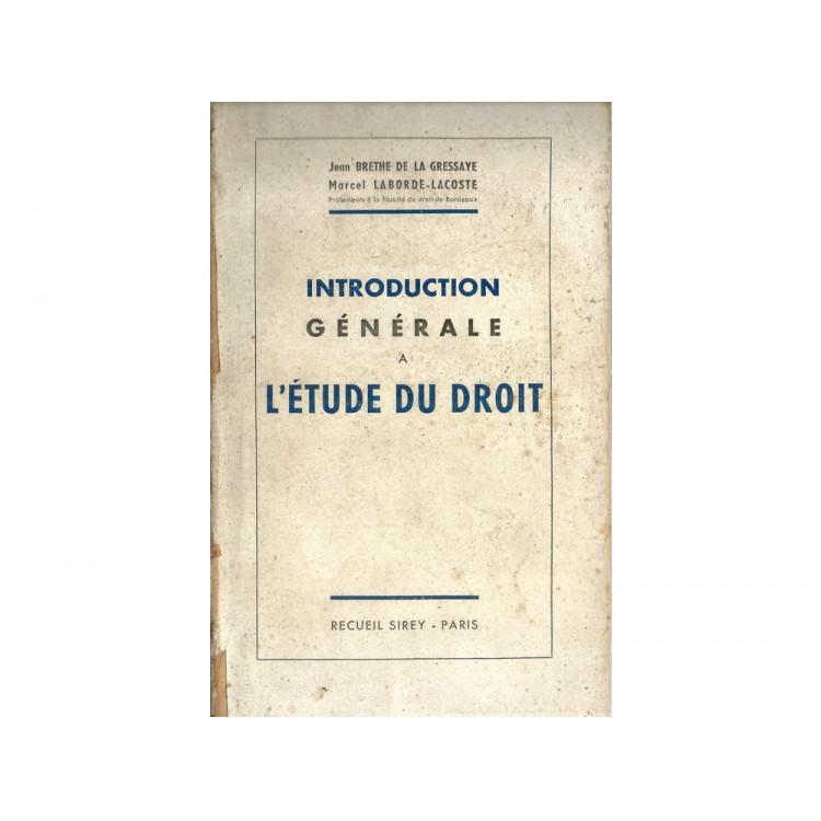Introduction Generale A L Etude Du Droit / 11135