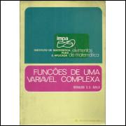 Funcoes De Uma Variavel Complexa / Geraldo S S Avila / 11322