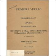 Primeira versao Logica primeira parte capitulo 1 Doutrina Geral dos Elementos / allgemei / 4347