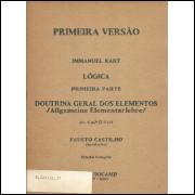 Primeira versao Logica primeira parte capitulo 2 Doutrina Geral dos Elementos / allgemei / 4348